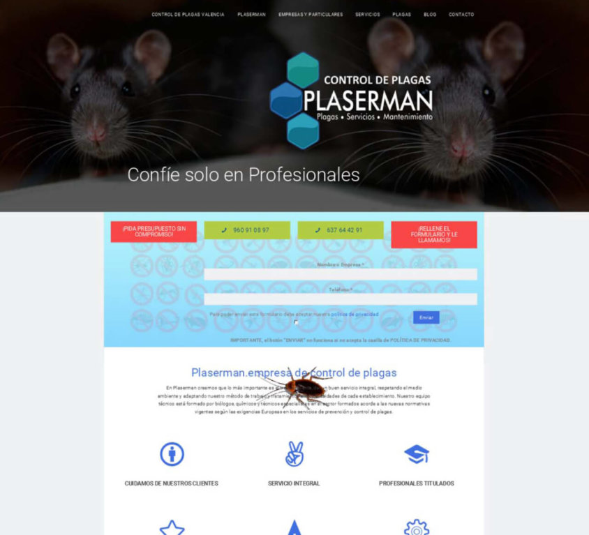 Plaserman Control de Plagas